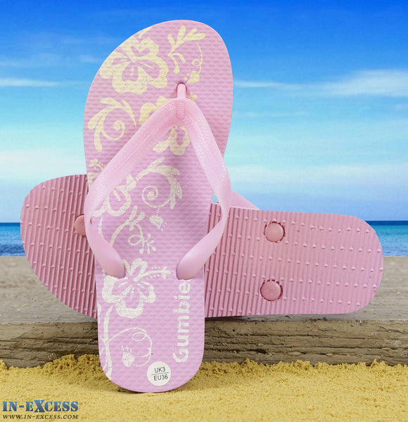 Gumbies EVA Flip Flops - Pink Flowers UK3-7