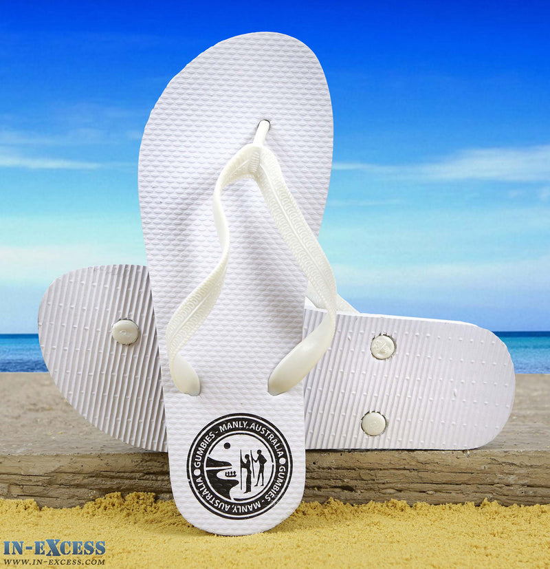 Gumbies EVA Flip Flops - White UK  Size 5