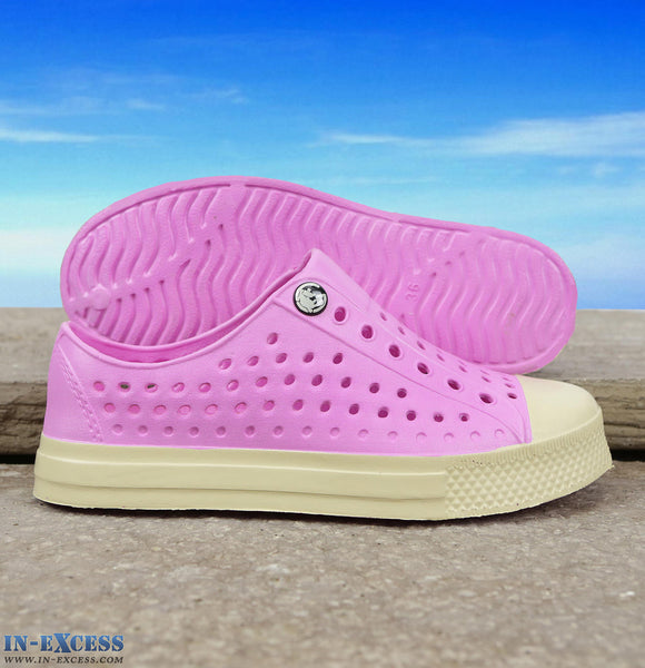 Gumbies Convert Deck Shoes - Junior Size 9-1 - Pink