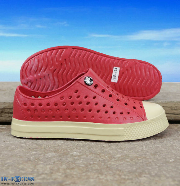 Gumbies Convert Deck Shoes - Junior Size 9-1 - Red