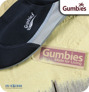 Gumbies Aqua Beach Shoes - Black & Carbon Grey -Sizes 3 (EU36) - 12 (EU46)