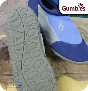 Gumbies Aqua Beach Shoes - Navy & Royal Blue - Sizes 3 (EU36) - 12 (EU46)