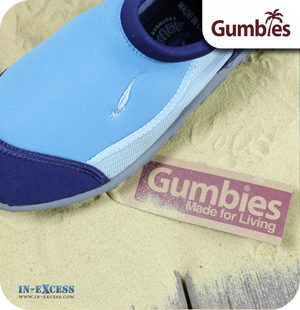 Gumbies Aqua Beach Shoes - Sky & Navy Blue - Sizes 13 (EU32) - 1 (EU33)