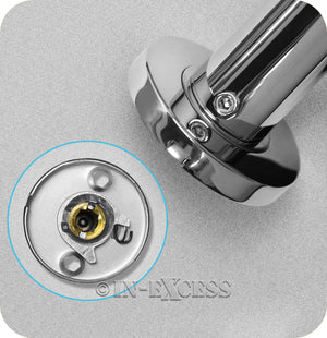 Hafele Hardware WC Lever Handle & Roses Door Set - Polished Stainless Steel