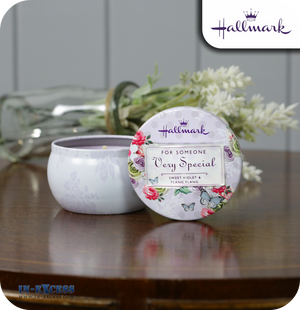 Hallmark Scented Candle Tin Someone Special - Sweet Violet & Ylang Ylang