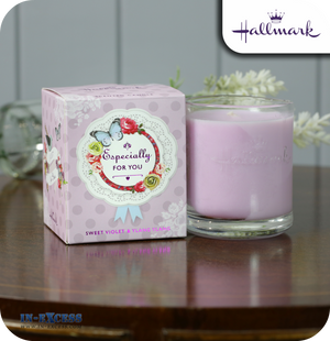 Hallmark Scented Glass Candle Especially For You - Sweet Violet & Ylang Ylang