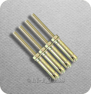 Solid Wall Projecting Anchor Bolt Heavy Weight Fixing - M10 x 155mm
