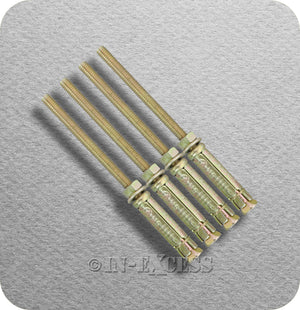Solid Wall Projecting Anchor Bolt Heavy Weight Fixing - M6 x 115mm