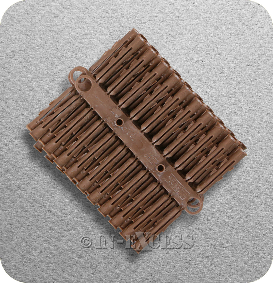 Solid Wall Brown Plastic Rawl Plug Medium Weight Fixing - 5-6.5mm Screw (Gauge 10-14)