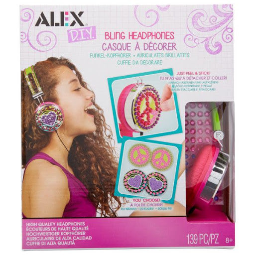 Alex Toys Girl's Tech Couture Bling Headphones (Pink/ Green)