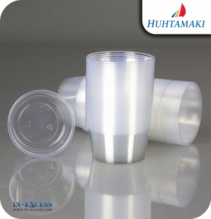Huhtamaki Econo Round Plastic Containers 250ml - Pack of 100