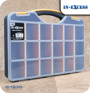 In-Excess Adjustable Toolbox & Organiser Storage Box - 18""