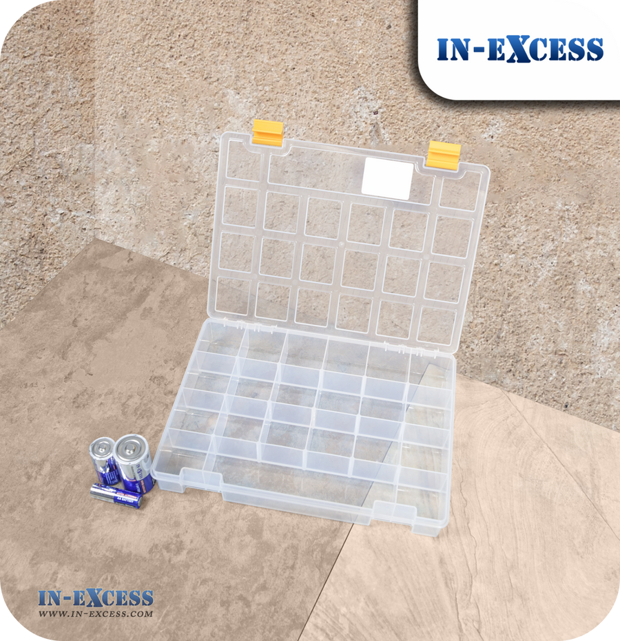 In-Excess Clear Toolbox & Organiser Storage Box - 11""