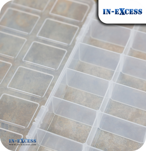 In-Excess Clear Toolbox & Organiser Storage Box - 9""