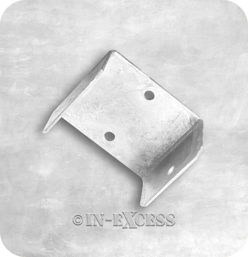 In-Excess Hardware Galvanised Fence Panel Fixing Fencing U-Clips - 50mm