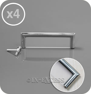 In-Excess Hardware Small Cosmopolitan Kitchen Cupboard Pull Handle - Polished Chrome & Frosted Perspex