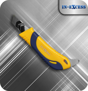 In-Excess Contractor Retractable Snap OFF SK5 Bladed Knife - With Hard Metal Pick
