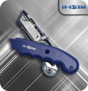 In-Excess Contractor Retractable SK5 Bladed Box Knife - With 2 Blades