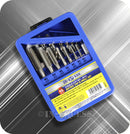 In-Excess Metric M3 - M12 Tap & Power Tool Drill Bit Alloy Steel Set - Set of 15 Pieces