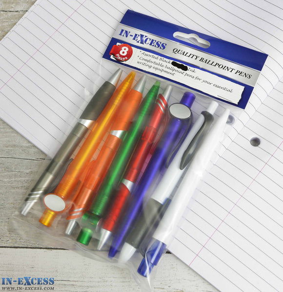 In-Excess Quality Ballpoint Pens 8 pieces