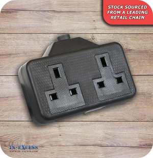 Rubber 2 Gang 13A Socket