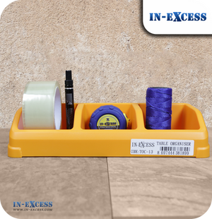 In-Excess Tabletop Desk Organiser - Yellow