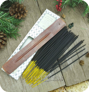 Fragranced Room Aroma Incense Sticks With Wooden Holder Cotton Blossom - Pack of 60 Pieces