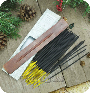 Fragranced Room Aroma Incense Sticks With Wooden Holder Vanilla Sugar - Pack of 60 Pieces