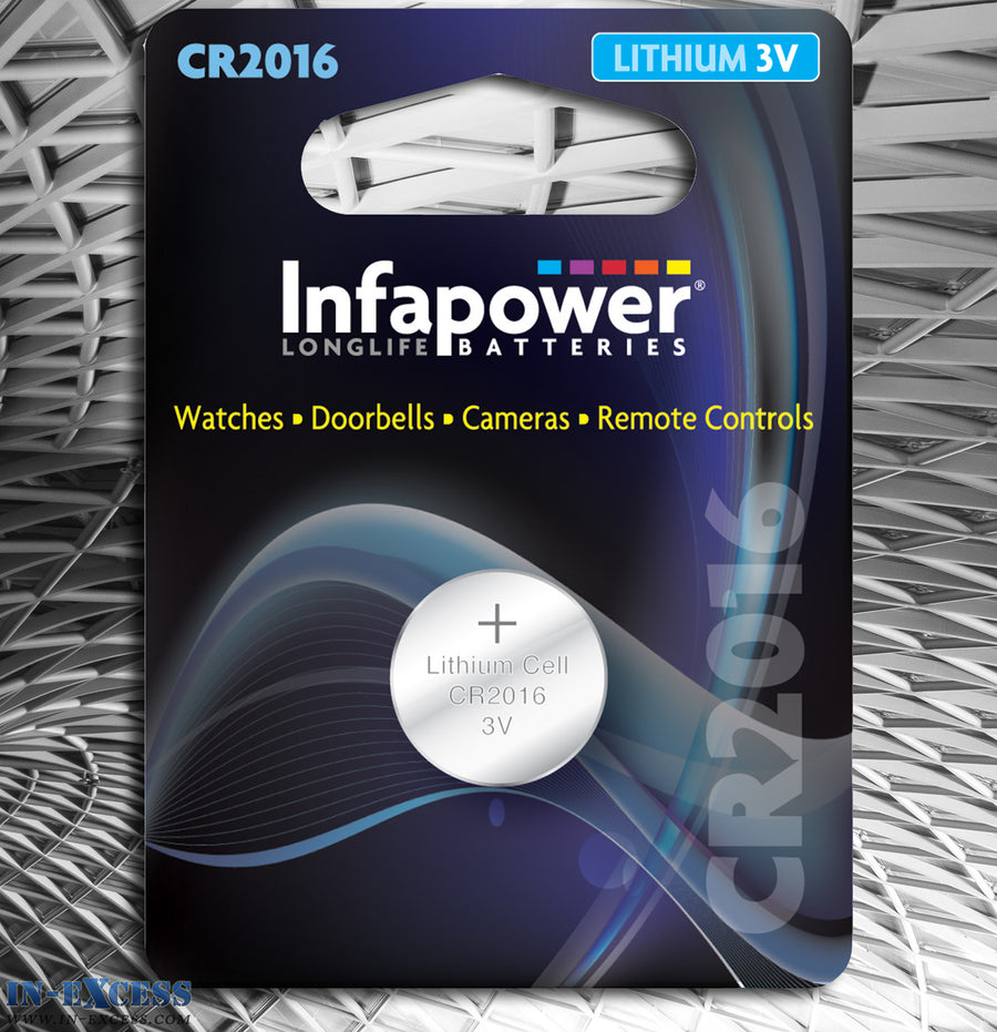 Infapower CR2016 Lithium 3V Cell Battery