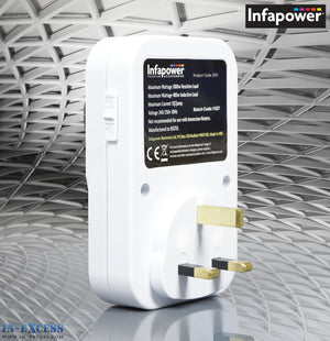 Infapower 24 Hour Programmable Timer Switch Control Power Socket x011