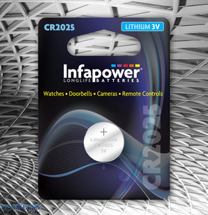 Infapower CR2025 Lithium 3V Cell Battery