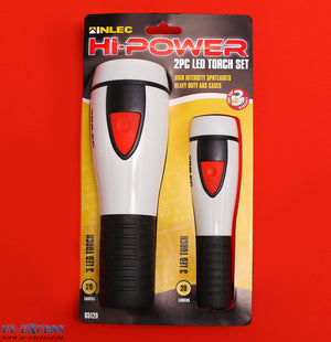 Inlec Hi-Power 2pc torch set high intensity LED spotlight with ABS cases