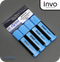 INVO Chisel Tip Highlighters Blue Ink - Pack of 4