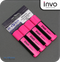 INVO Chisel Tip Highlighters Pink Ink - Pack of 4