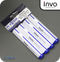 INVO Drywipe Whiteboard Marker Pens Blue Ink - Pack of 4