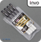 INVO Super Smooth Ballpoint Pen Black Ink - Pack of 4