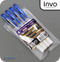 INVO Super Smooth Ballpoint Pen Blue Ink - Pack of 4