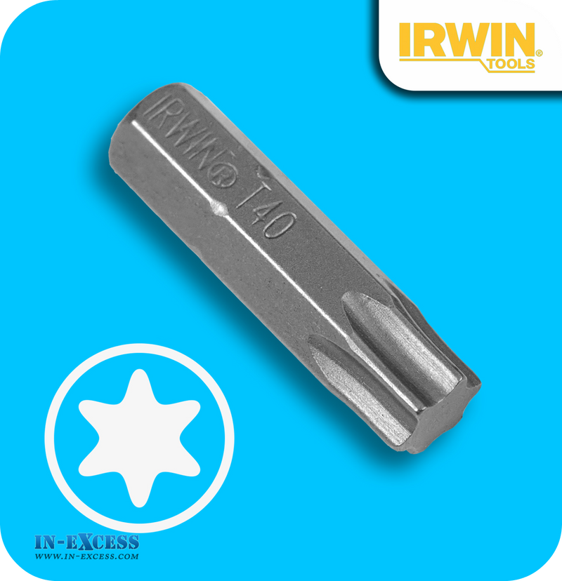 "Irwin 1/4"" Insert Drill Bit Torx T40 - Pack of 50"