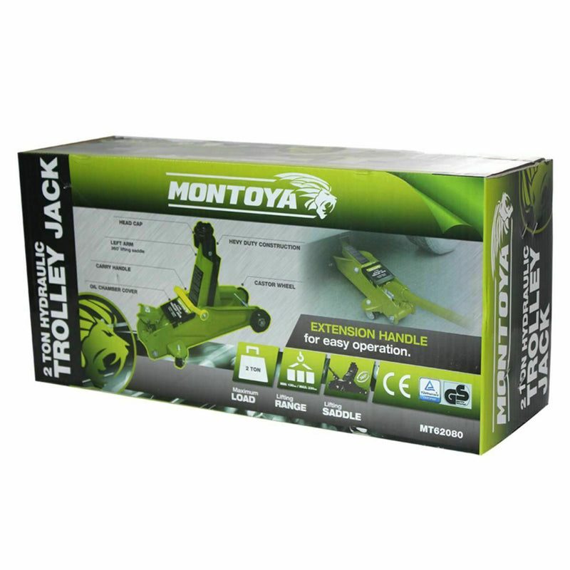 Montoya 2 Ton Hydraulic Trolley Jack Heavy Duty