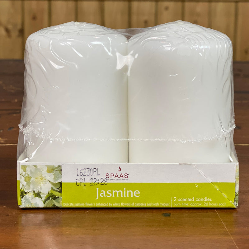 Spaas Jasmine scented candles - 2 pack