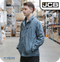 JCB Men's Drivers Jacket - Steel Blue (JA00009)