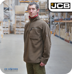 JCB Men's Fleece Zip Neck Jumper (JA00016)