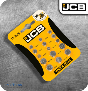 JCB Watch Cell Batteries - Mixed Pack of 15
