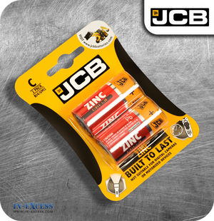 JCB Zinc C Batteries - Pack of 2