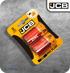 JCB Zinc D Batteries - Pack of 2