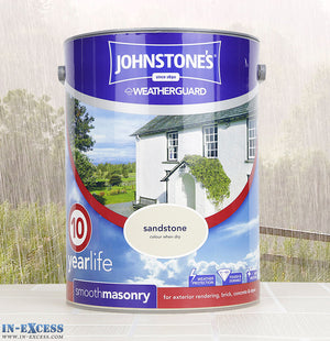 Johnstone's Weather Guard Smooth Masonry Paint - Sandstone 5 Litre