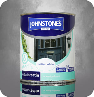 Johnstone's 6 Year Life Exterior Satin Brilliant White - 750ml