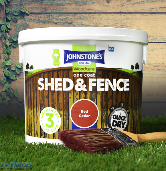 Johnstone's Woodcare Onecoat Fence & Shed 5 Litre - Red Cedar