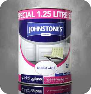 Johnstone's Quick Dry Gloss Brilliant White - 1.25 Litre