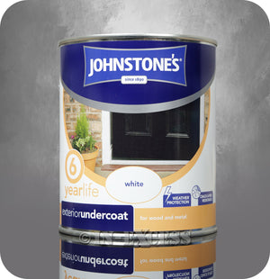Johnstone's 6 Year Life Exterior Undercoat White - 750ml